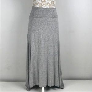 🎉SOLD🎉Lularoe XS Heathered Gray Maxi Skirt